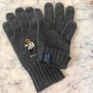Polo by Ralph Lauren tuxedo bear gloves